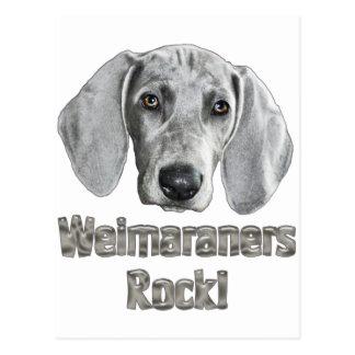 Weimaraner-Izzie Postcard