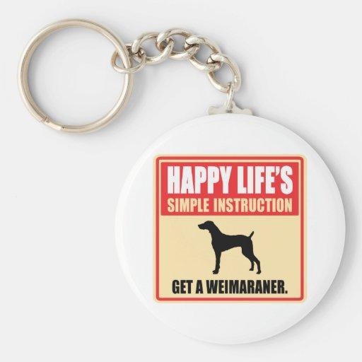 Weimaraner Key Chain