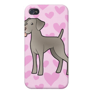 Weimaraner Love (add your own background!) iPhone 4 Covers