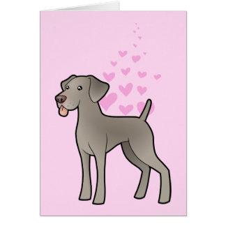 Weimaraner Love Card