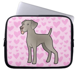 Neoprene Laptop Sleeve 10 inch with Weimaraner Phone Cases design