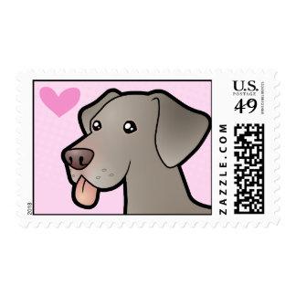 Weimaraner Love Postage