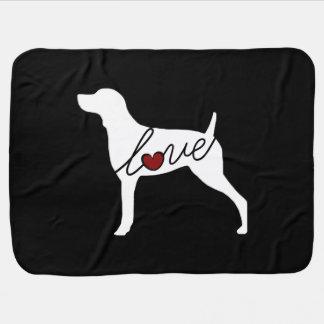 Weimaraner Love Swaddle Blanket