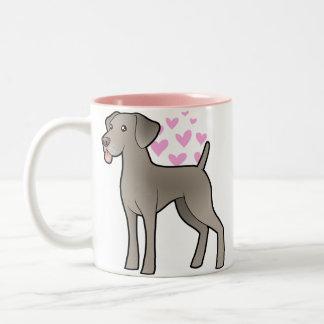Weimaraner Love Two-Tone Coffee Mug