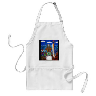 Weimaraner  Marlin Fishing Adult Apron