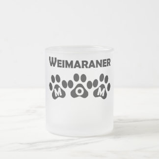 Weimaraner Mom 10 Oz Frosted Glass Coffee Mug