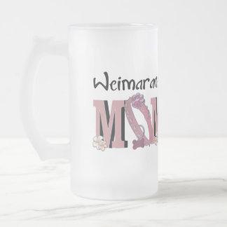 Weimaraner MOM 16 Oz Frosted Glass Beer Mug