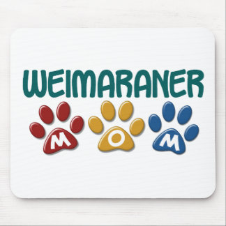 WEIMARANER Mom Paw Print 1 Mouse Pad