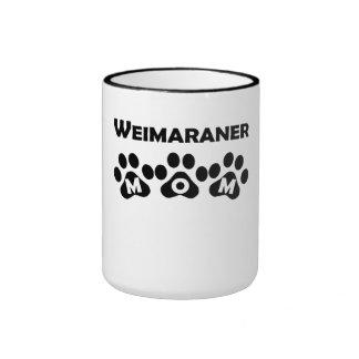 Weimaraner Mom Ringer Coffee Mug