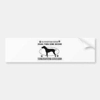 Weimaraner Mommy Design Bumper Sticker