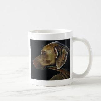 weimaraner classic white coffee mug