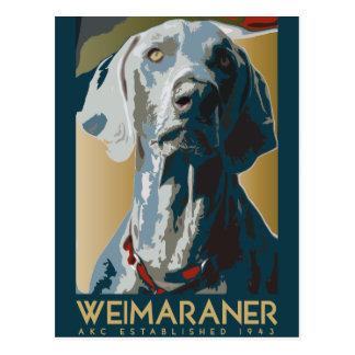 Weimaraner Nation : 1943 Weimaraner Postcard