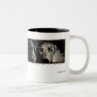 "Weimaraner Nation : ""A Thoughtful Stare"" Two-Tone Coffee Mug"