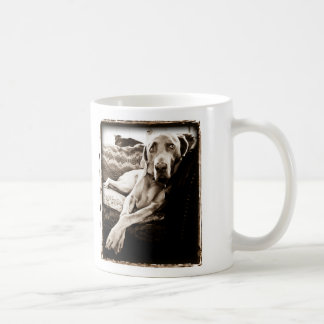 Weimaraner Nation : Ballou's Chair Coffee Mug