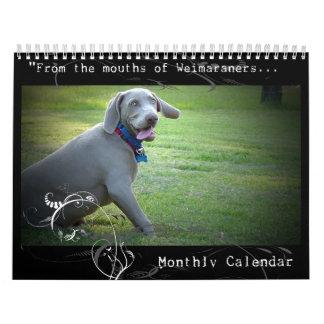 Weimaraner Nation : Quotation Calendar