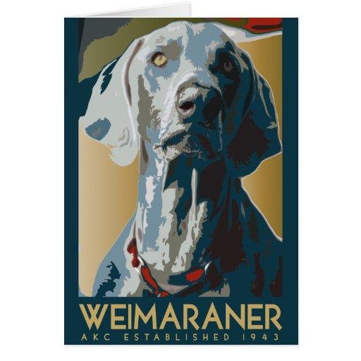 Weimaraner Nation : Weimaraner 1943 Card