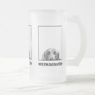 Weimaraner Nation : Weimaraner In A Box! Frosted Glass Beer Mug