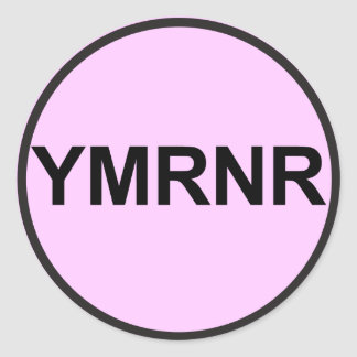 Weimaraner Nation : YMRNR Graphic Classic Round Sticker