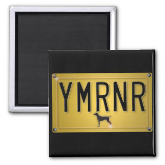 Weimaraner Nation YMRNR License Plate Refrigerator Magnet