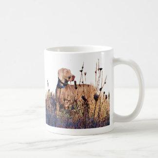 Weimaraner On Retrieve Coffee Mug