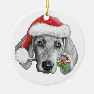 Weimaraner Christmas Ornaments