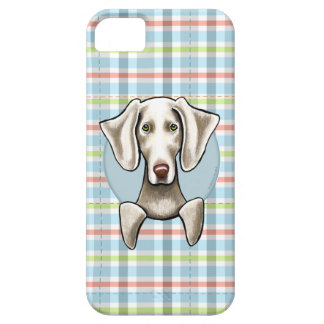 Weimaraner Pale Plaid iPhone 5 Cover