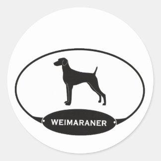 Weimaraner Etiquetas Redondas