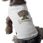 Weimaraner personalizado camisetas mascota