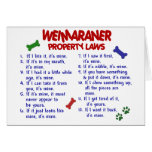 WEIMARANER Property Laws 2 Greeting Card