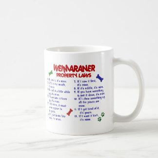 WEIMARANER Property Laws 2 Mug