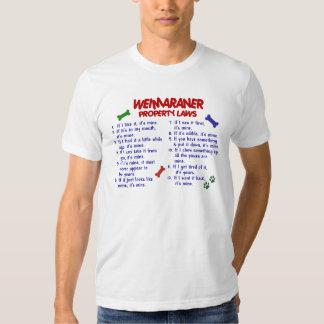 WEIMARANER Property Laws 2 T Shirt