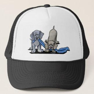 Weimaraner Puppies Trucker Hat