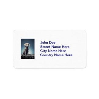 Weimaraner puppy label