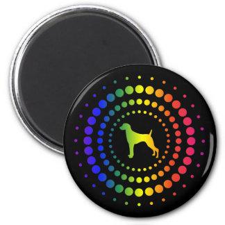 Weimaraner Rainbow Studs 2 Inch Round Magnet