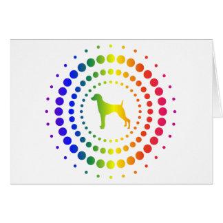 Weimaraner Rainbow Studs Card