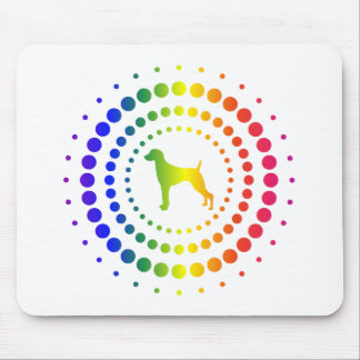 Weimaraner Rainbow Studs Mouse Pad