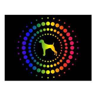 Weimaraner Rainbow Studs Postcard