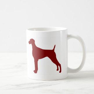 Weimaraner (Red) Coffee Mugs