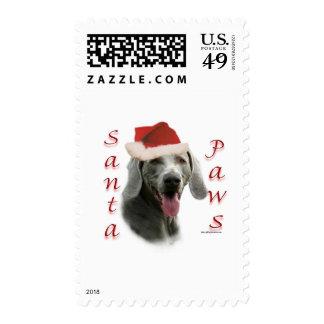 Weimaraner Santa Paws Stamp