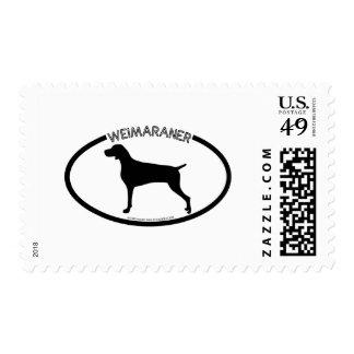 Weimaraner Silhouette Black Stamp