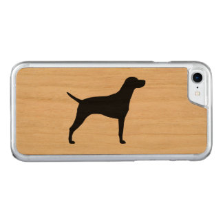Weimaraner Silhouette Carved iPhone 7 Case