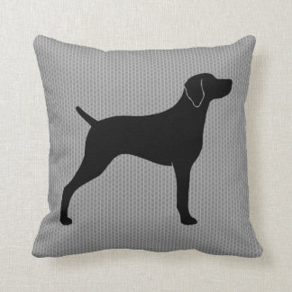 Weimaraner Silhouette Throw Pillow