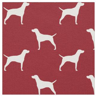 Weimaraner Silhouettes Pattern Fabric