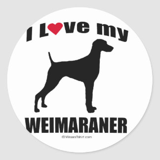 Weimaraner Stickers