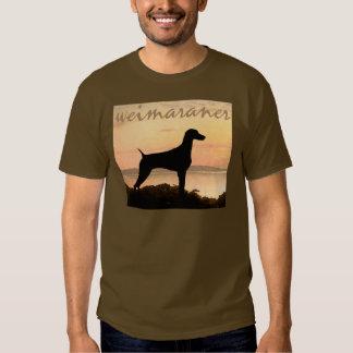 Weimaraner Sunset Tee Shirt