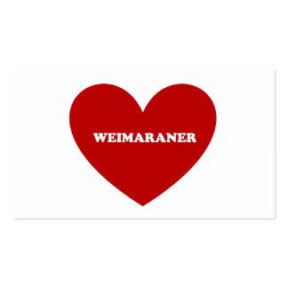 Weimaraner Tarjeta Personal