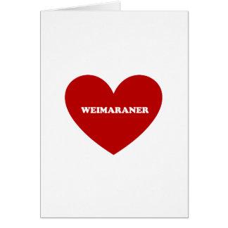 Weimaraner Tarjeta De Felicitación