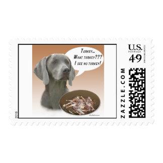 Weimaraner Turkey Postage Stamp