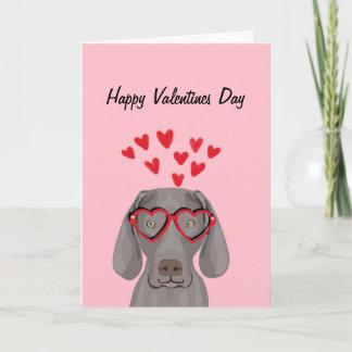 Weimaraner Valentines Love Card