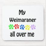 Weimaraner Walks Design Mouse Pad
